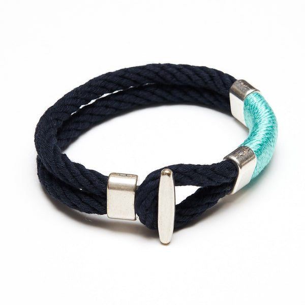 Cambridge - Navy/Turquoise/Silver