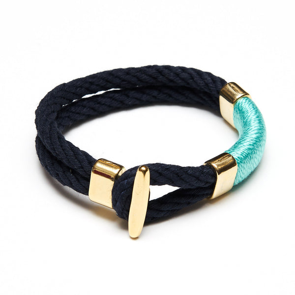 Cambridge - Navy/Turquoise/Gold