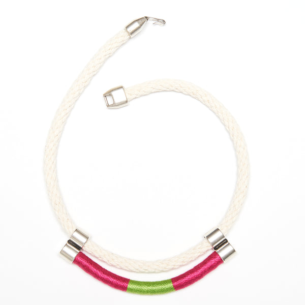 Atlantic - Ivory/Pink/Lime/Silver