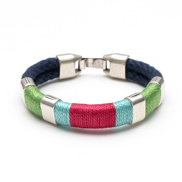 Newbury - Navy/Lime/Turquoise/Pink/Silver