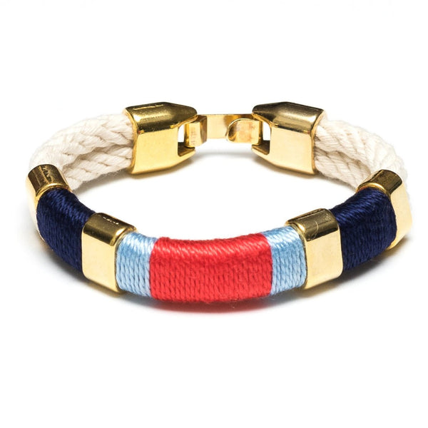 Newbury - Ivory/Navy/Blue/Coral/Gold