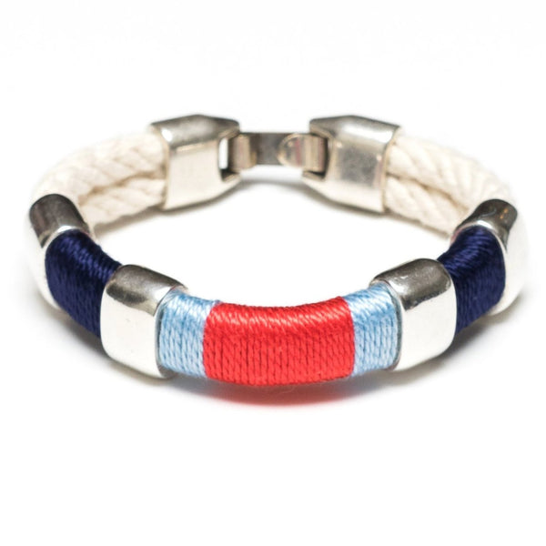 Newbury - Ivory/Navy/Blue/Coral/Silver
