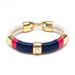 Kingston - Ivory/Navy/Pink/Gold