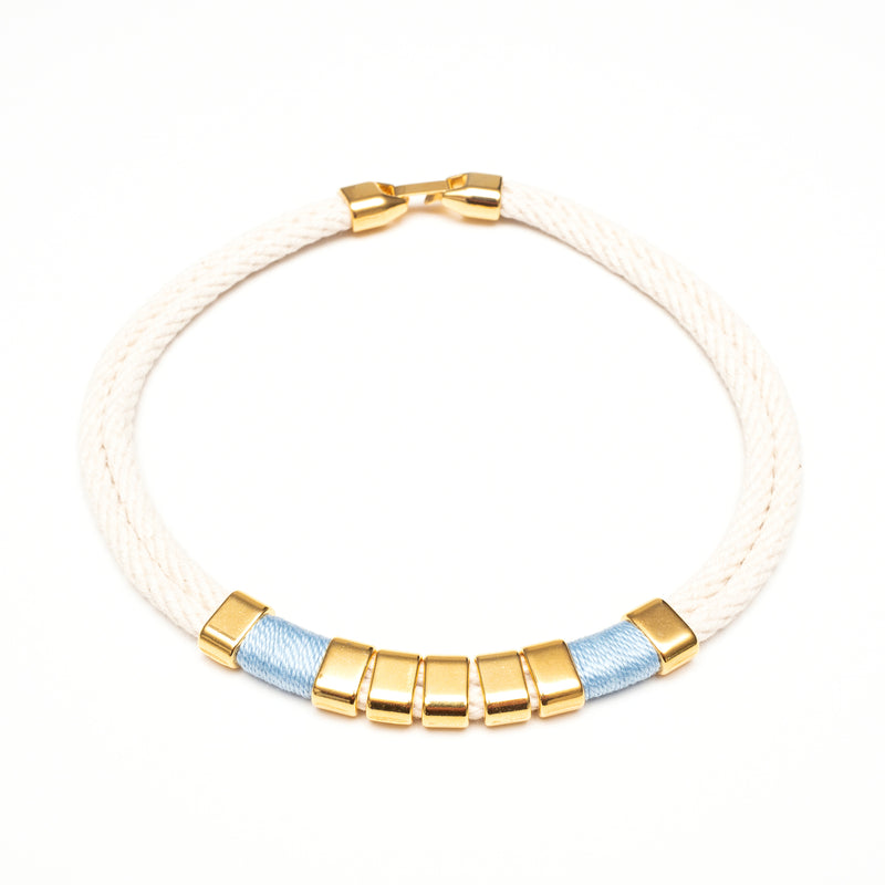 Beech - Ivory/Light Blue/Gold