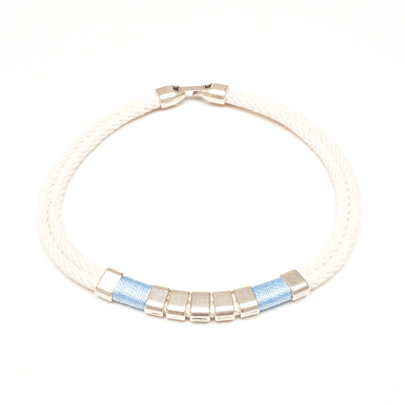Beech - Ivory/Light Blue/Silver