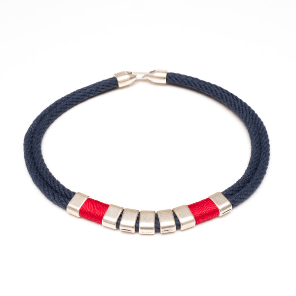 Beech - Navy/Red/Silver