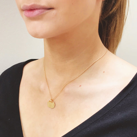 Bee Necklace with Tassel and/or Initial Charm(s) - Gold