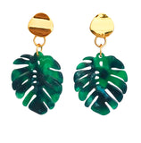 Palm Leaf Lucite Earrings