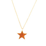 Star Necklace with Tassel and/or Initial Charm(s) - Gold