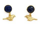 The Blue Parrot Earrings