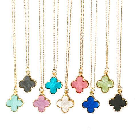 The 'Good Luck' Clover Necklace - Choose A Colour
