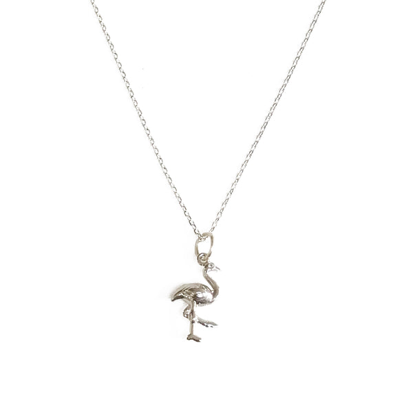 Flamingo Necklace - Silver