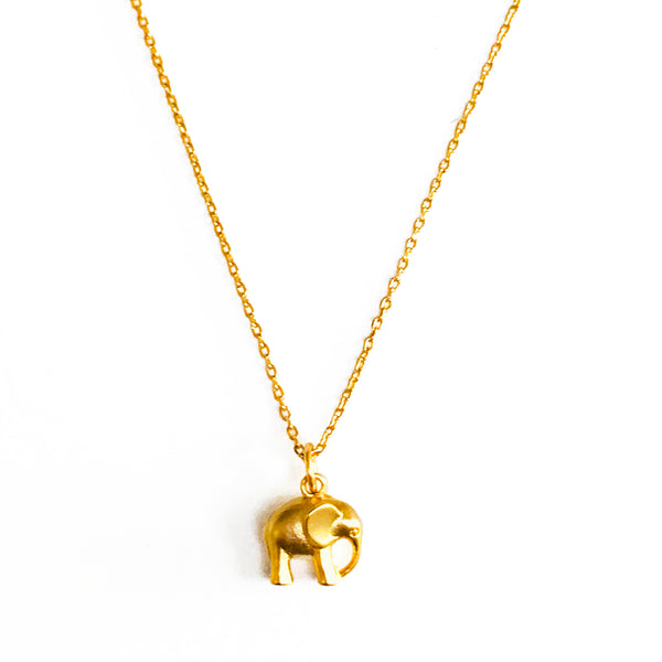 Elephant Necklace - Gold