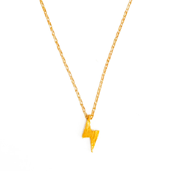 Lightning Necklace - Gold