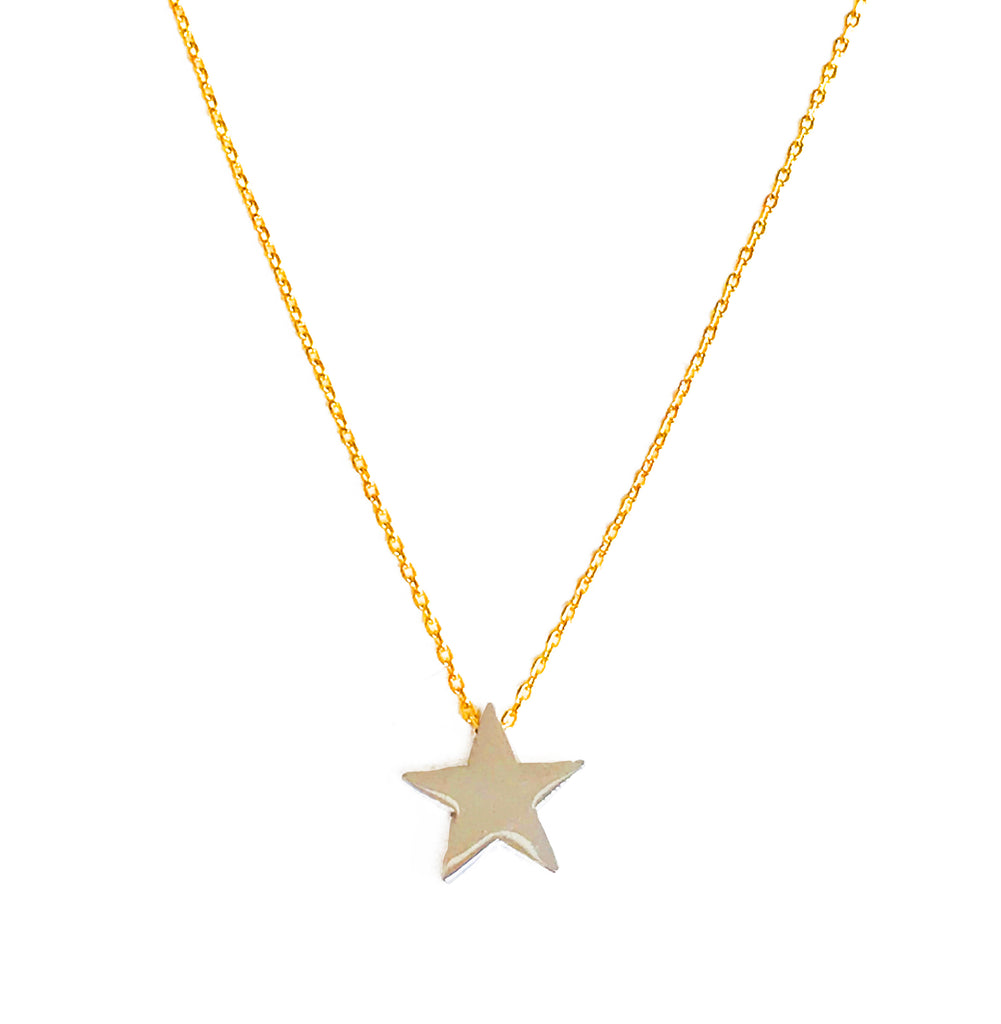 Silver or Gold Star - Gold Necklace