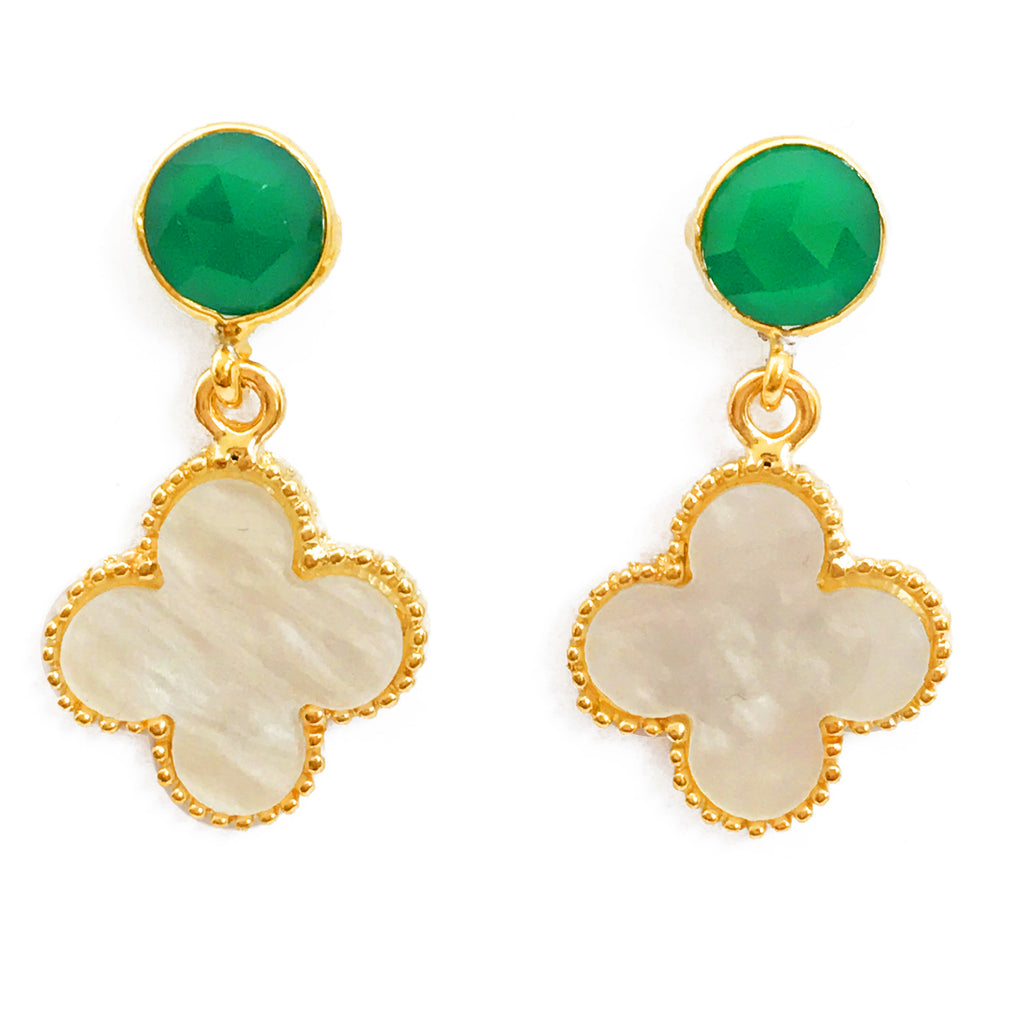 The 'Good Luck Clover' Earrings - Green Posts