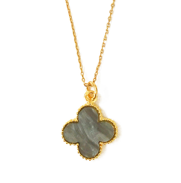 The 'Good Luck' Clover Necklace - Grey