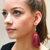 Multi Coloured Tassel Earrings
