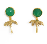 The Green Palm Tree Earrings