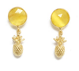 The Yellow Pineapple Earrings