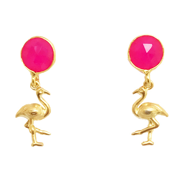 The Pink Flamingo Earrings