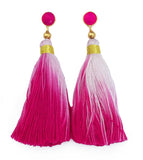 Ombre Tassel Earrings - Pink