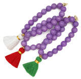 Purple Jade Bracelet - Choose a Tassel Colour
