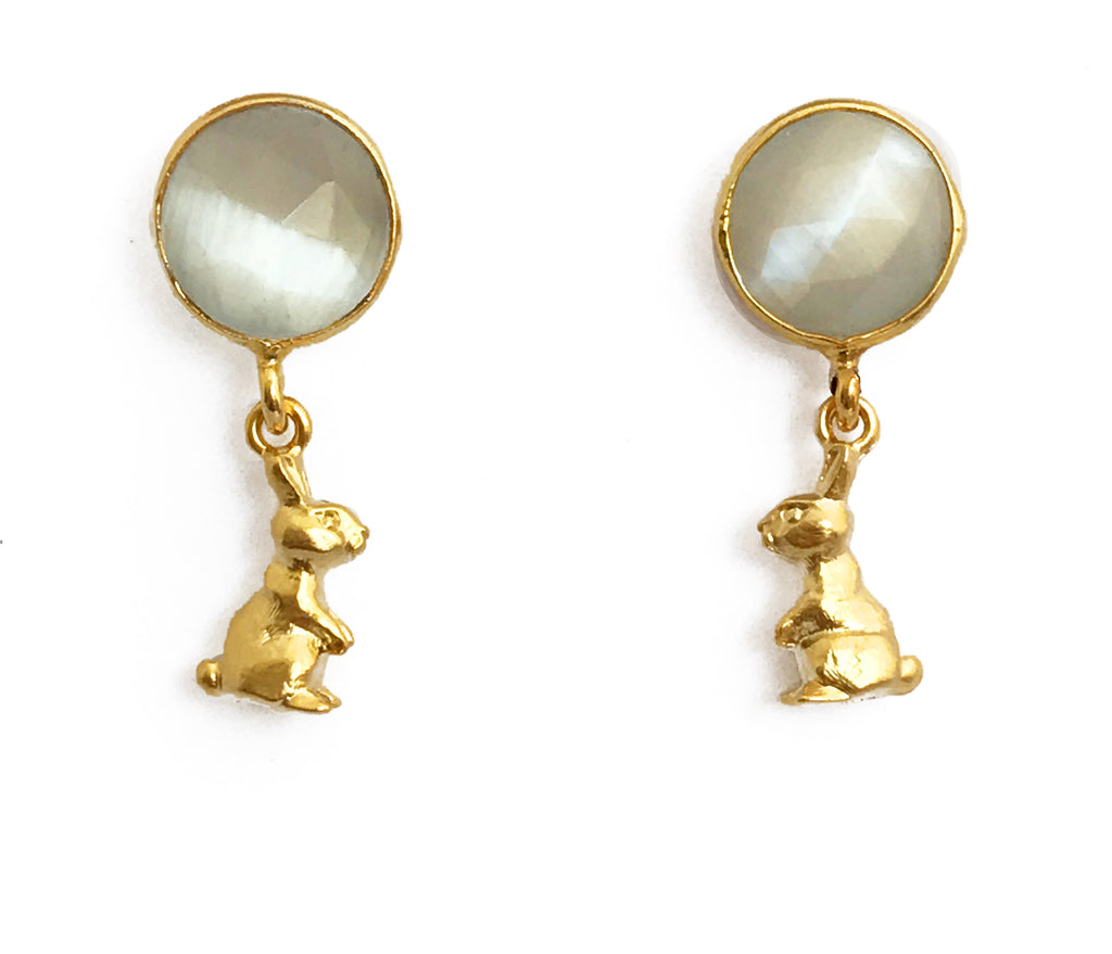 The White Rabbit Earrings