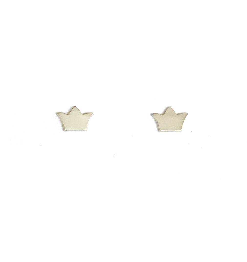 london crown earrings silver small products blessed stud