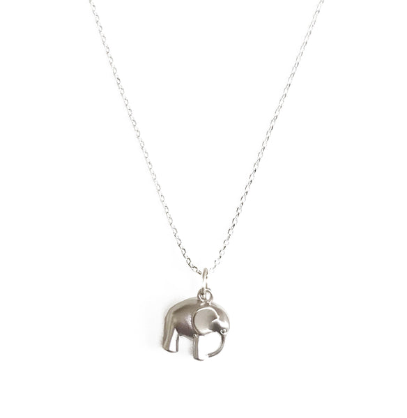 Elephant Necklace - Silver