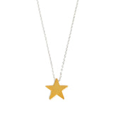 Gold or Silver Star - Silver Necklace