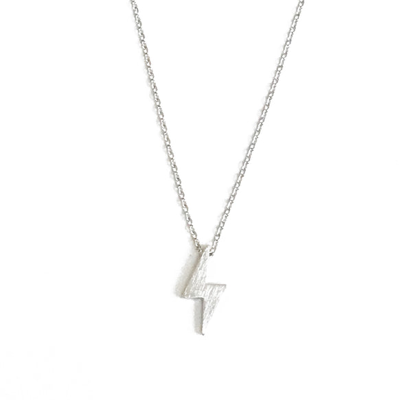 Lightning Necklace - Silver