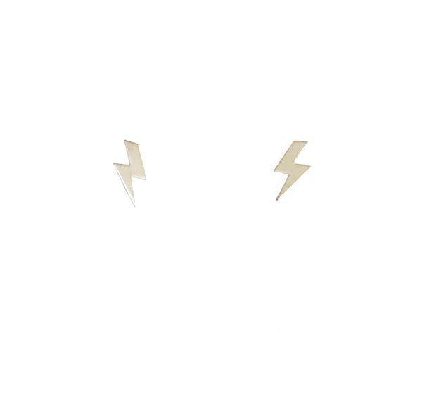 Silver Lightning Stud Earrings