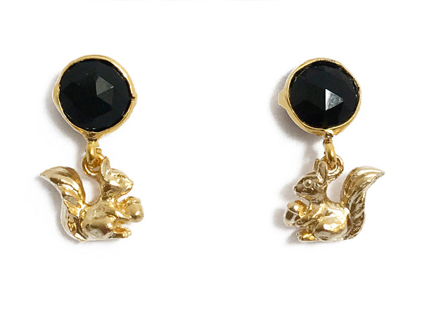 The Black Squirrel Earrings