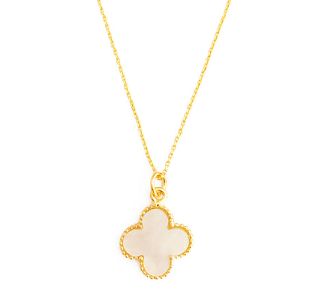 The 'Good Luck' Clover Necklace - White