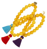 Yellow Jade Bracelet - Choose a Tassel Colour