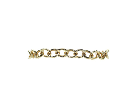14K Yellow Gold Round Link Bracelet