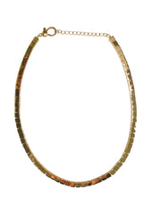 14K Gold Flat Square Necklace