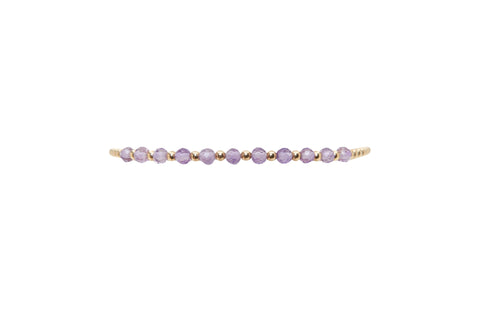 2MM Yellow Gold Filled Bracelet with Amethyst Gold Pattern