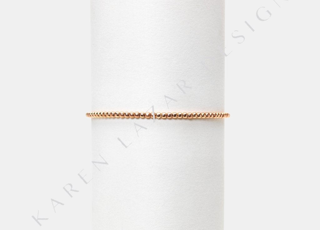 Kids 2MM Rose Gold Filled Bracelet