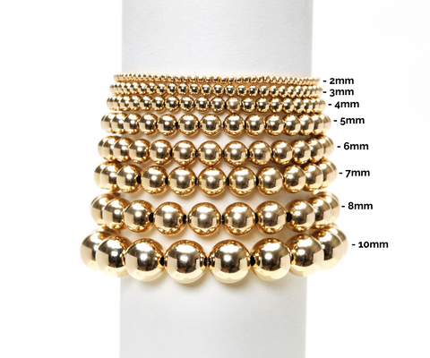 6MM Yellow Gold Filled Bracelet with 7MM Rose Gold