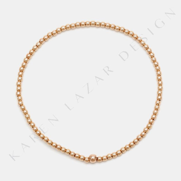 2MM Rose Gold Filled Bracelet