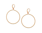 2MM Rose Gold Filled Beaded Hoop Earrings