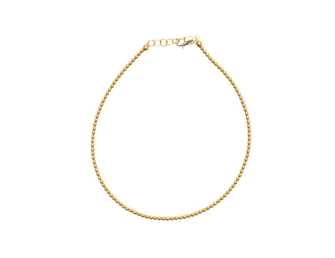 2MM Yellow Gold Filled Anklet