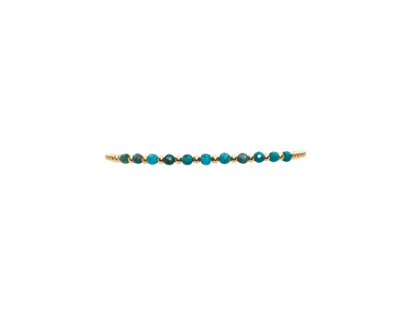2MM Yellow Gold Filled Bracelet with Apatite Gold Pattern