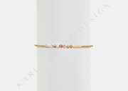 2MM Yellow Gold Filled Bracelet with Mixed Natural Opal