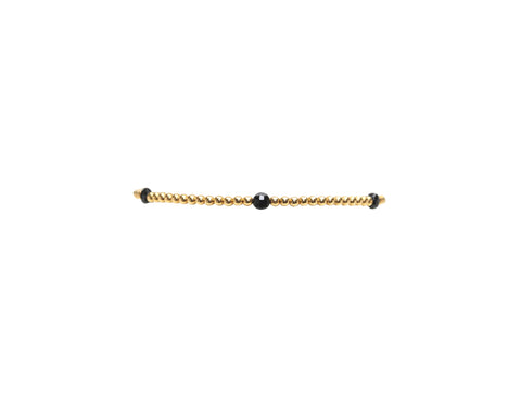 2MM Yellow Gold filled Bracelet with Spinel Disc Pattern