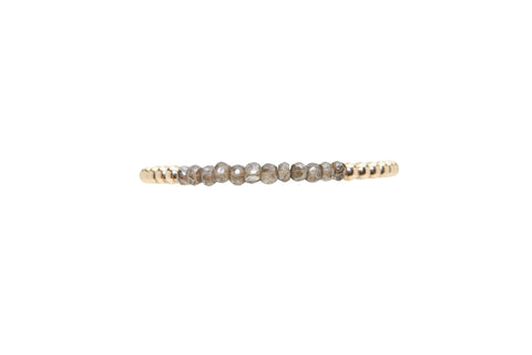 4MM Yellow Gold Filled Bracelet with Smokey Topaz