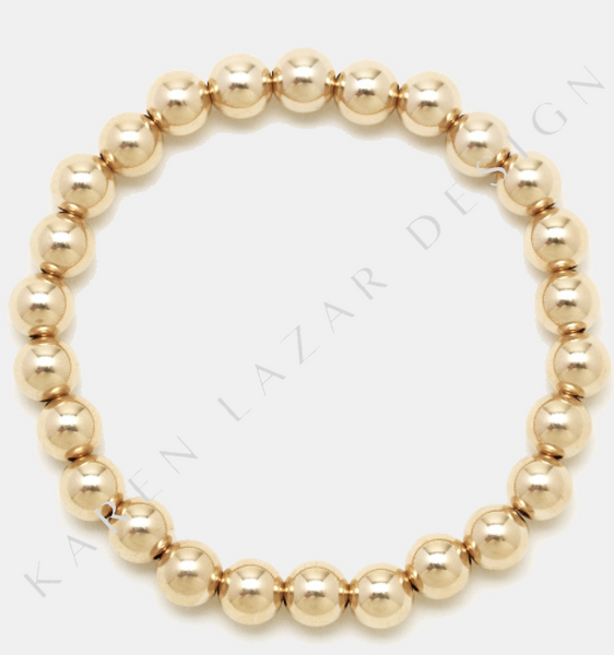 6MM Yellow Gold Filled Bracelet