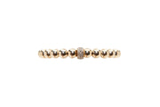 7MM Yellow Gold Filled Bracelet with 14K Diamond Rondelle